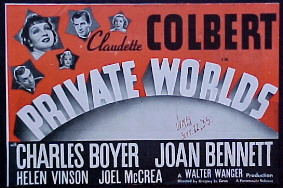 <i>Private Worlds</i> 1935 film by Gregory La Cava