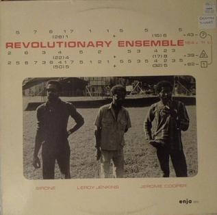 <i>Revolutionary Ensemble</i> (album) 1977 live album by Revolutionary Ensemble