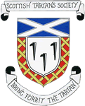 Coat of arms of the now-defunct Scottish Tartans Society