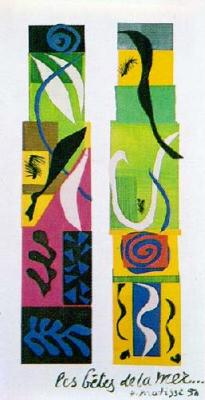 Henri Matisse, Beasts of the Sea, 1950, paper ...
