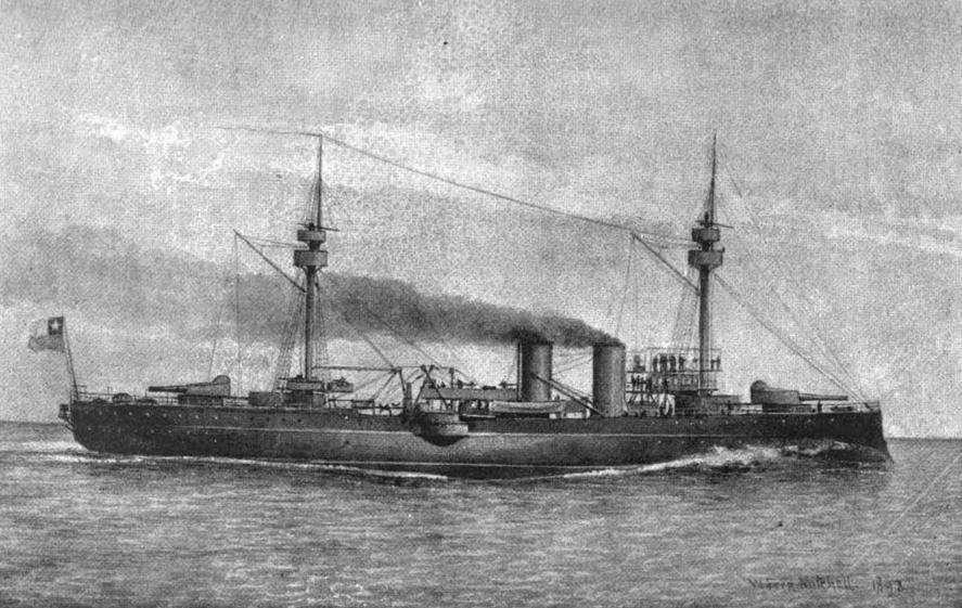 Chilean pre-dreadnought battleship Capitan Prat