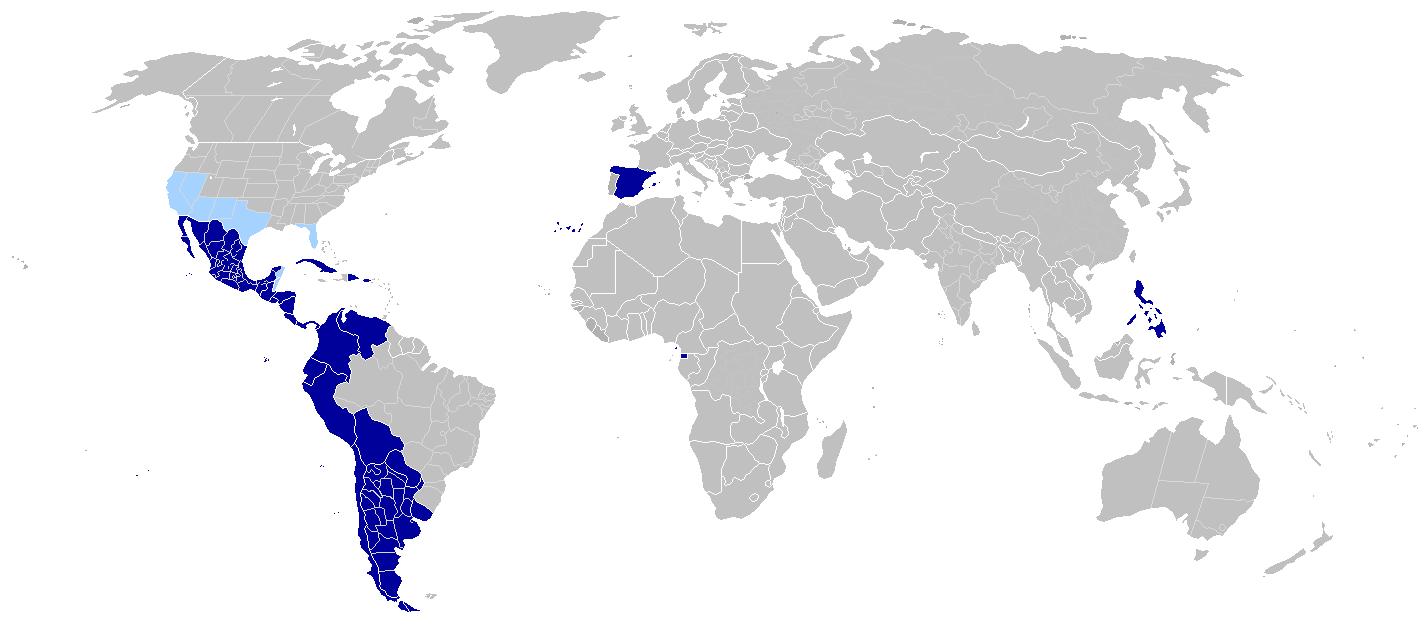 world map latin america