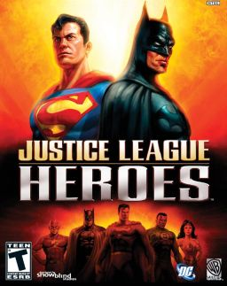 Official poster of Justice League: Heroes game featuring Batman launched in 2006.