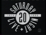 The title card for the twentieth season of Saturday Night Live.