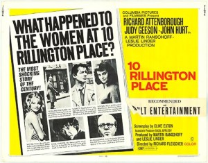 <i>10 Rillington Place</i> 1971 film by Richard Fleischer