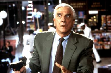 Frank Drebin fictional character in the Police Squad! series and the Naked Gun films