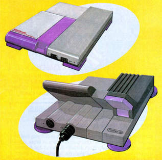 "Early concept designs for the SNES, referred to as the ""Nintendo Entertainment System 2"" Super NES designs.png"