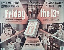 <i>Friday the Thirteenth</i> (1933 film) 1933 film by Victor Saville