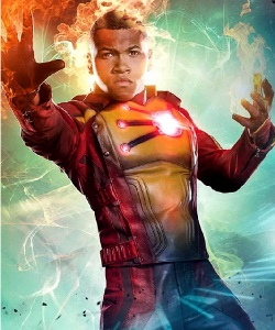 "Franz Drameh as Jefferson ""Jax"" Jackson—the second Firestorm in the Arrowverse as depicted in Legends of Tomorrow"