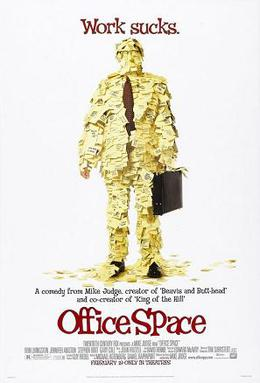 Film poster for Office Space - Copyright 1999,...