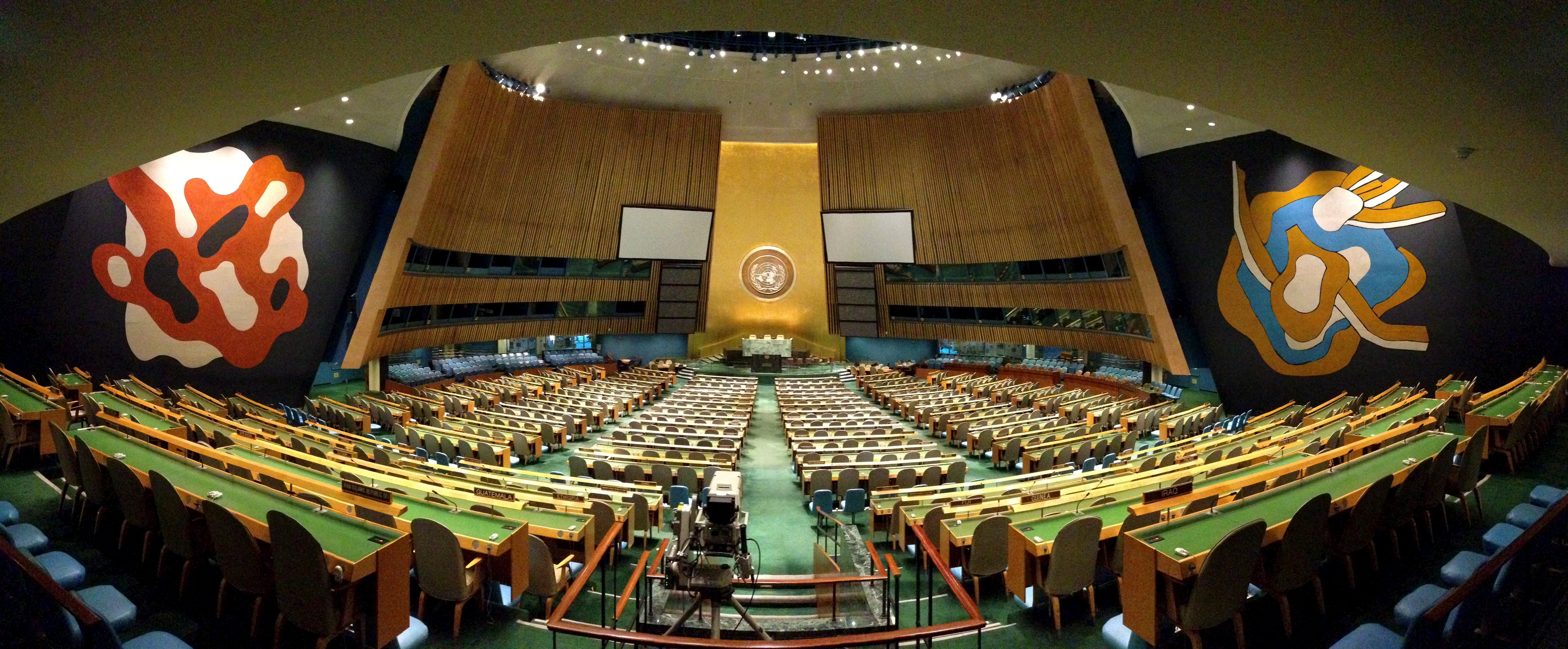 What kind of involvement does the United Nations take in any current world affair?
