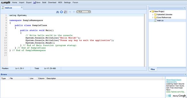 file compilr online c compiler wikipedia
