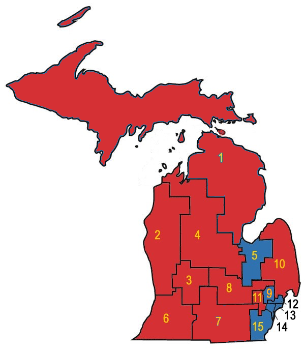 MI congressional Districts