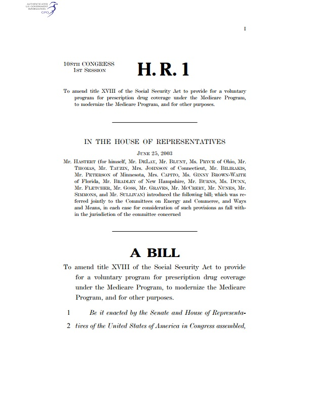 how to write a congressional bill format