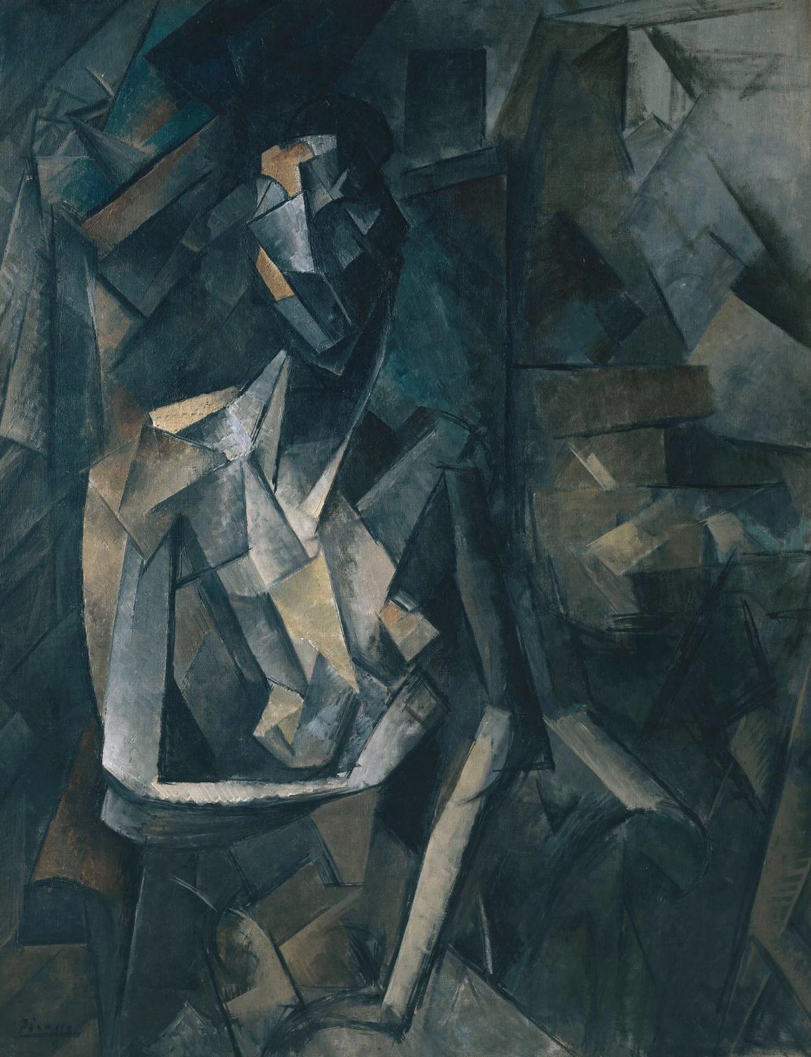 Picasso Cubist Faces Pablo picasso, 1909-10,