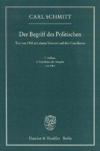 <i>The Concept of the Political</i> book by Carl Schmitt