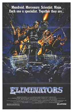 Film poster for Eliminators - Copyright 1986, ...