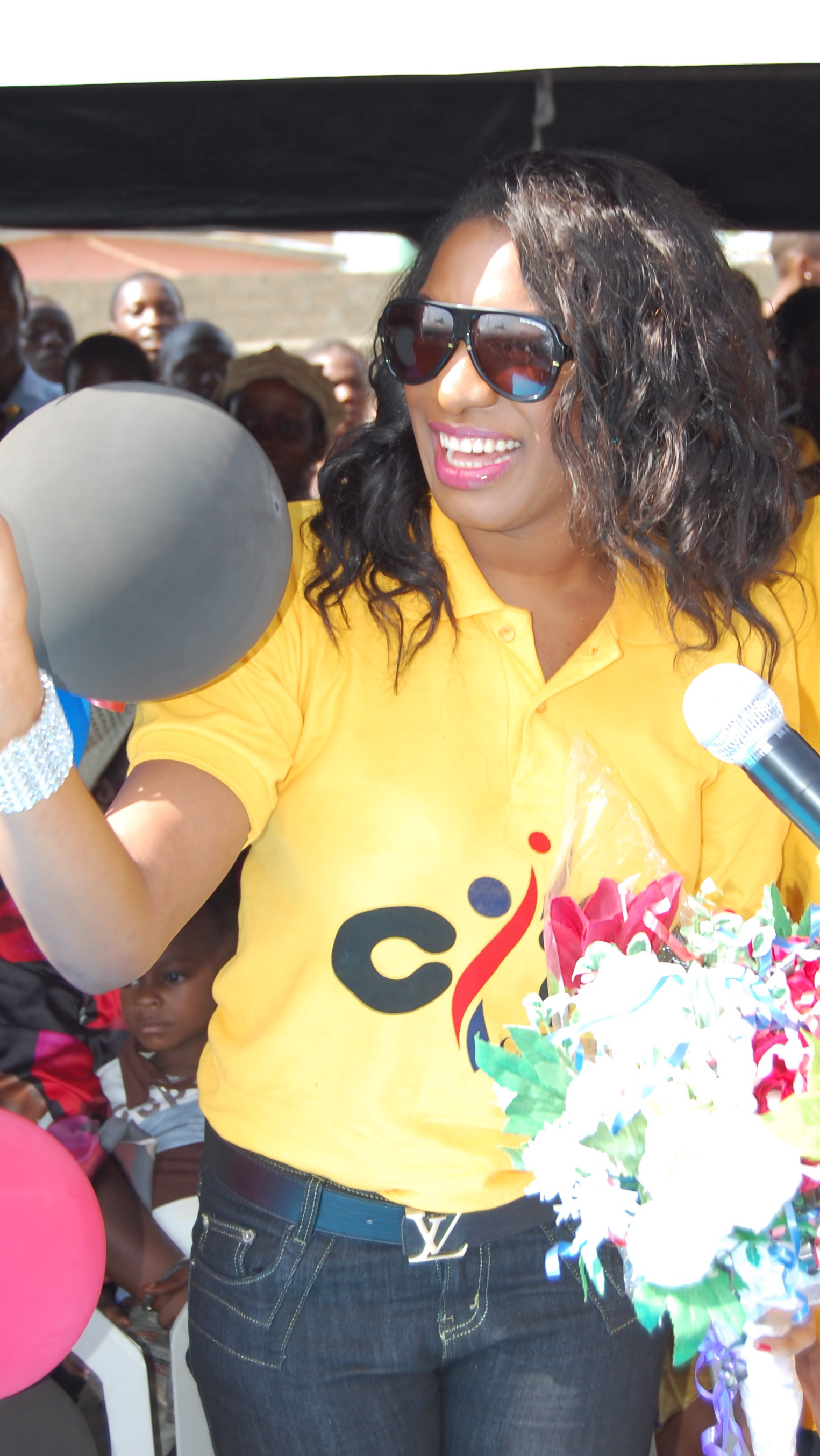File:Chika Ike at the children's day party organised by her