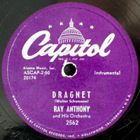 Ray Anthony Dragnet 78rpm label.jpg