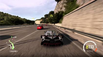 Gameplay In Forza Horizon 2 Here The Player Races Lamborghini Veneno Against Opponents