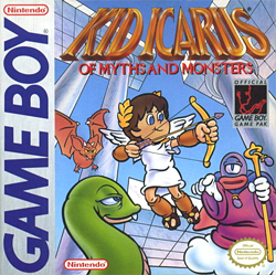 A Drawn Image Showing The Games Title Logo And Protagonist Pit