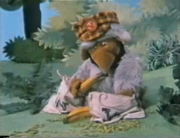"""One of the wombles; Bungo, in UK television series <em><a href=""""http://search.lycos.com/web/?_z=0&q=%22The%20Wombles%20%28TV%20series%29%22"""">The Wombles</a></em>"""