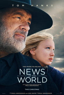 News of the World 2020 USA Paul Greengrass Tom Hanks Helena Zengel Tom Astor  Action, Adventure, Drama