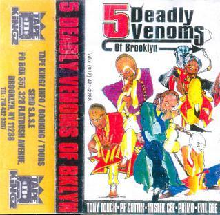 <i>5 Deadly Venoms of Brooklyn</i> 1997 mixtape by P.F. Cuttin / Mister Cee / Tony Touch / DJ Premier / Evil Dee