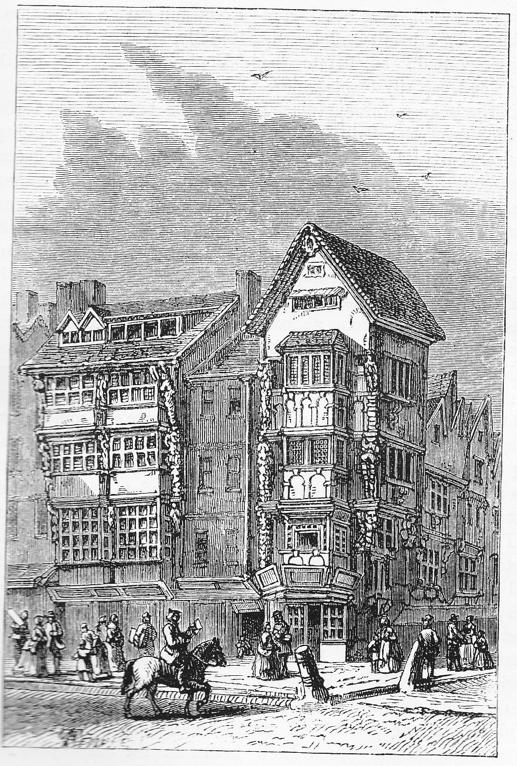 Walton's house at '120 Chancery Lane' occupied 1627–1644 (from Old & New London, Walter Thornbury Wikipediaより