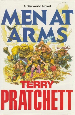 <i>Men at Arms</i> book by Terry Pratchett