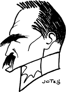 Contemporary caricature of Jozef Pilsudski by Jerzy Szwajcer Pilsudski carricature by Szwajcer.PNG