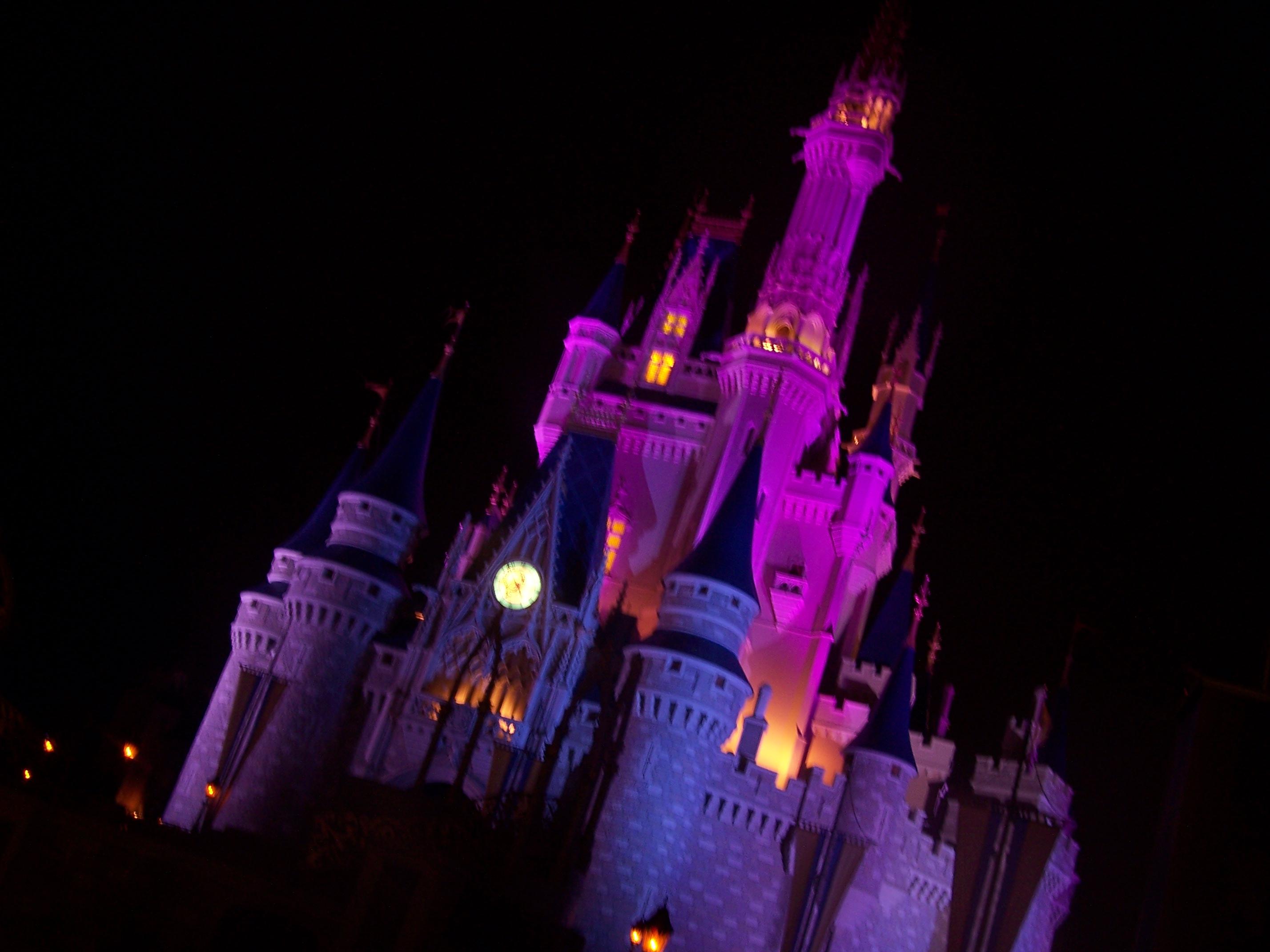 File Cinderalla S Castle At Night Jpg Wikipedia