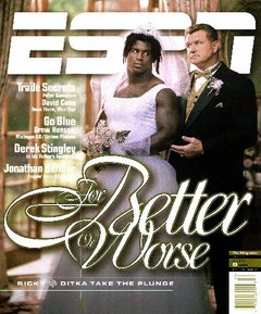 Williams and Ditka on the cover of ESPN The Magazine's issue of August 9, 1999