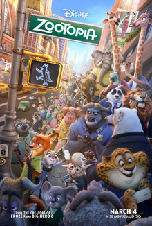 Zootopia 2016 US Animation Byron Howard Ginnifer Goodwin Jason Bateman Idris Elba  Animation, Action, Adventure
