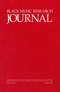<i>Black Music Research Journal</i> journal
