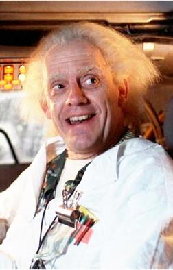 Dr Emmett Brown explaining parallel universes