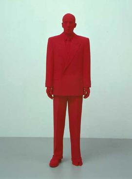 Katharina Fritsch, Dealer, 2001, polyester and paint, 75 x 23 x 16. Fritsch Dealer.jpg