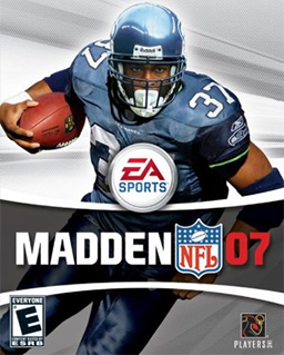 North American cover art featuring Shaun Alexander .