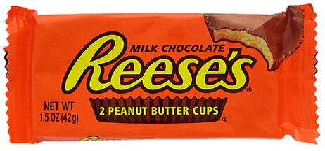 Reese's Peanut Butter Cups, second favorite candy