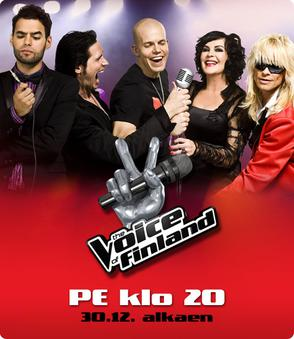 Promotional photograph of the Coaches of The Voice of Finland