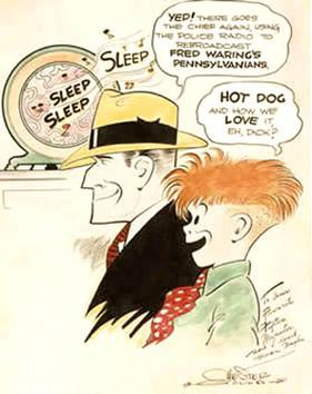 Cartoon by Chester Gould from the Fred Waring collection
