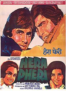 <i>Hera Pheri</i> (1976 film) 1976 Hindi movie directed by Prakash Mehra