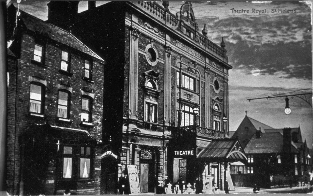 Postcard Illustration of the original Theatre Royal (Matcham design)