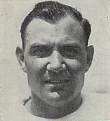 A headshot of Ray Terrell from a 1946 Cleveland Browns game program
