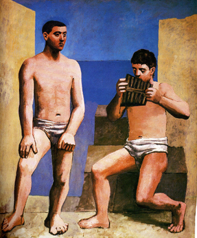 The Pipes of Pan by Pablo Picasso 1923.png