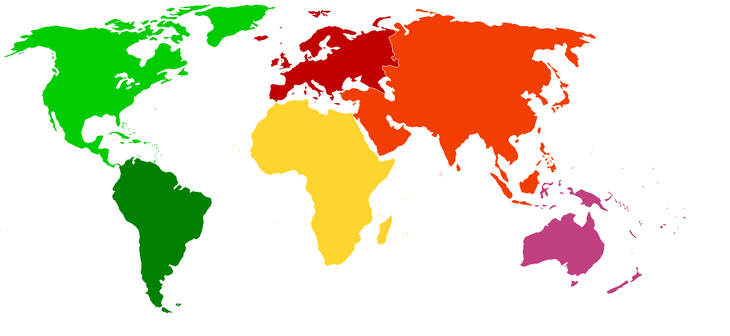 Blank Color World Map File:BlankMap World Continents Coloured.png   Wikipedia