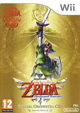 Packaging artwork of the Legend of Zelda 25th anniversary special edition, released worldwide