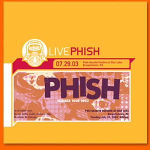 Live Phish 07.29.03 - Wikipedia