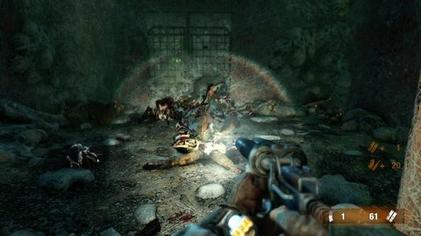 A Gameplay Screenshot Showing Artyom Fighting Mutant Inside The Metro 4A Games Intentionally