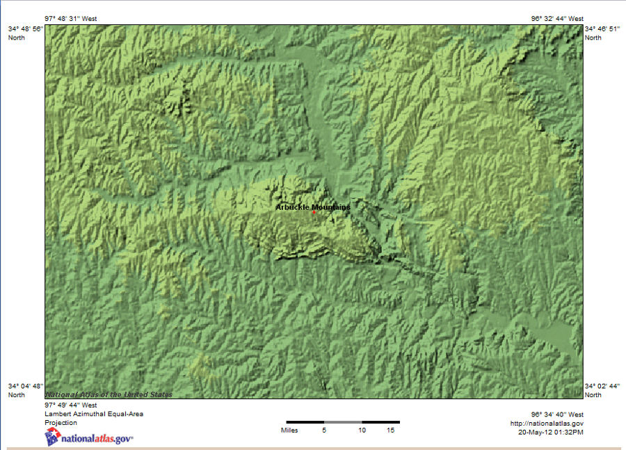 Arbuckle mountains wikipedia shaded relief map of arbuckle mountains ok topographic natatlas arbucklemts ok publicscrutiny Choice Image